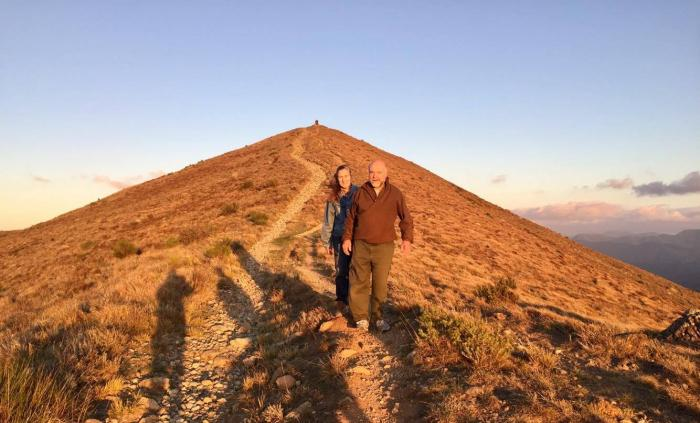La domenica prima di tornare a casa una gita sul monte Porale al tramonto, con Barbara e Roberto