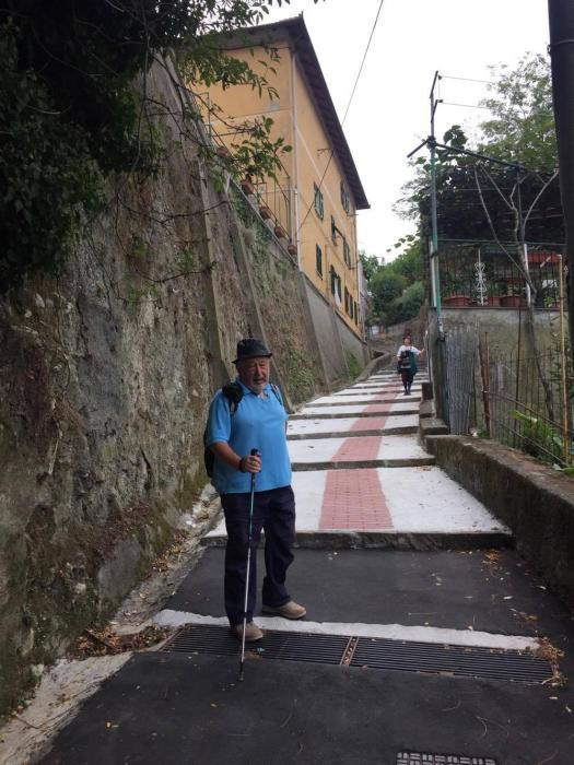 Pierguido Quartero, la nostra guida in queste escursioni sull'antica via Romana