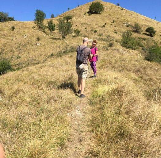 Il sentiero per le mountain bike tracciato da Mauro e Francesca
