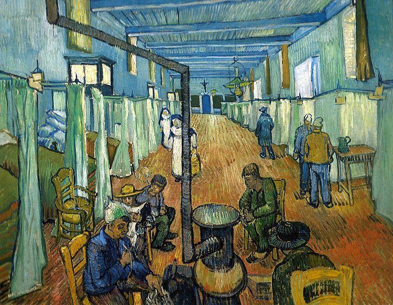 Van Gogh, la corsia dell'ospedale dove fu ricoverato