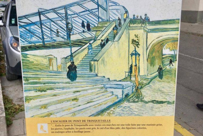 Circuito di Van Gogh, la lastra di pietra è posizionata vicino al ponte, proprio dove lui posò il cavalletto