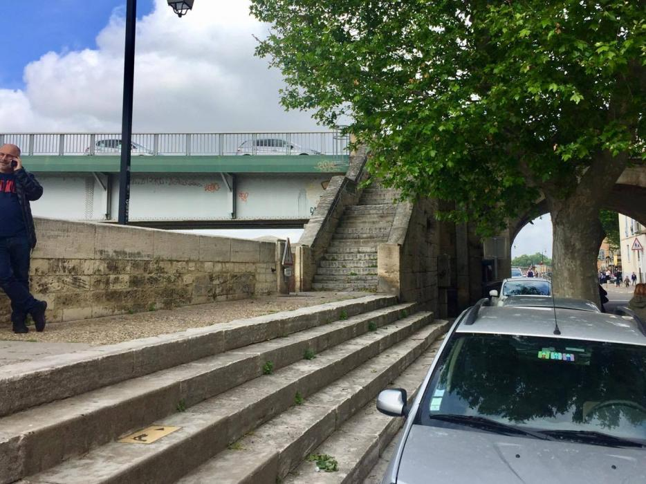 Il ponte sul Rodano oggi