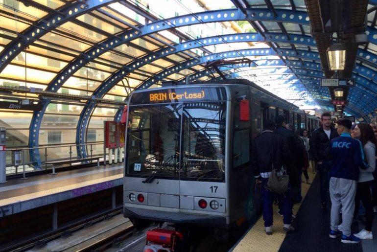 E ora si torna in centro città con la metro di Brin