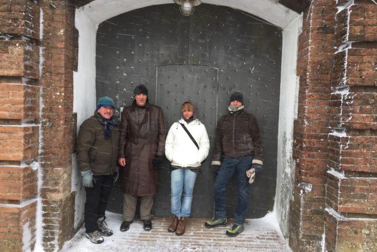 I miei quattro compagni di viaggio. Enrico, Emanuele, Alessandra e Cesare.