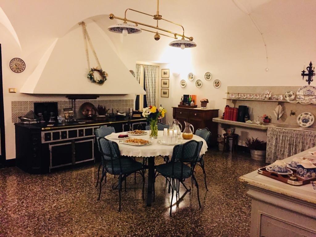 La cucina, proprio com'era nell'Ottocento.
