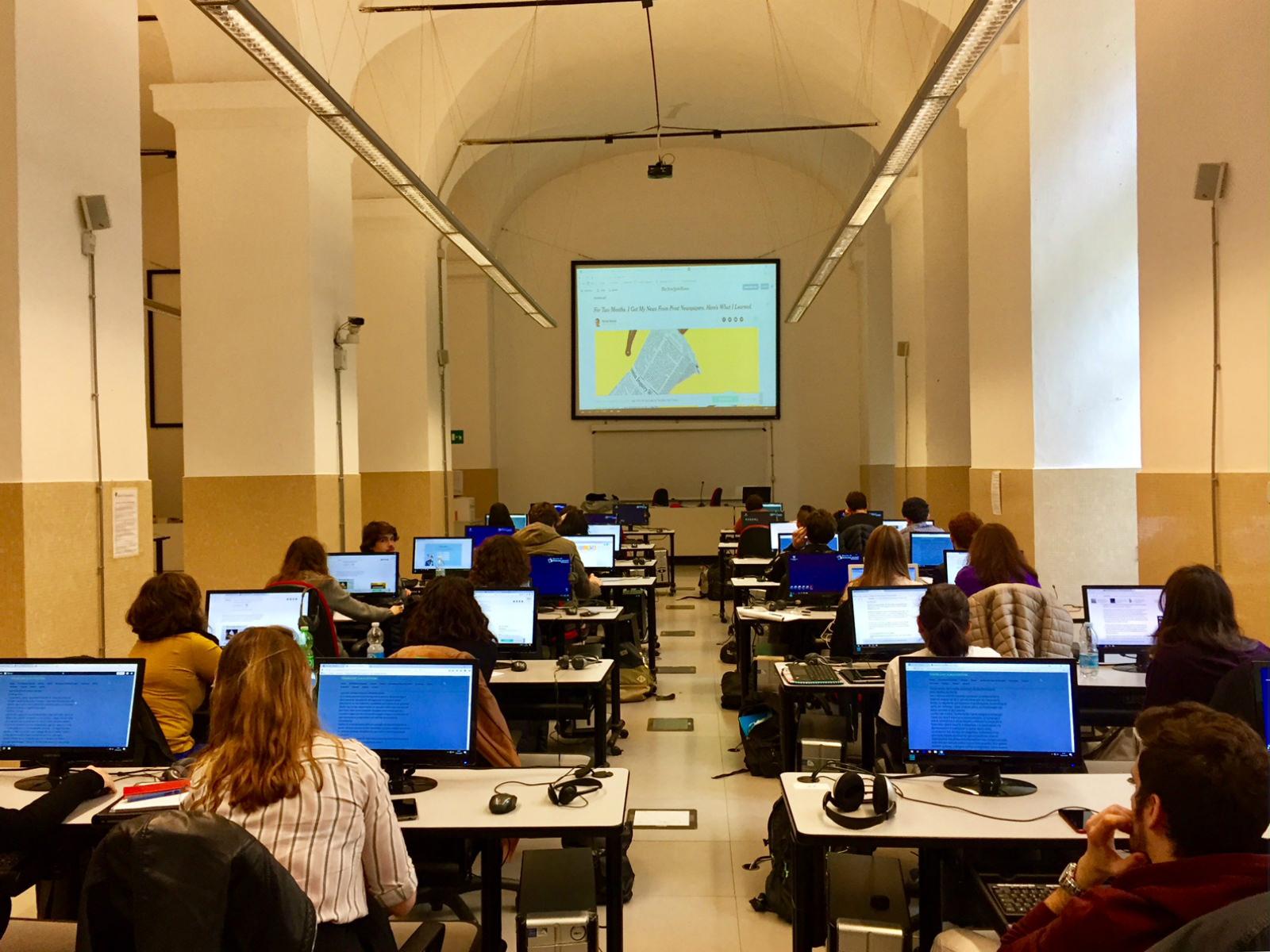 I miei studenti durante la lezione.