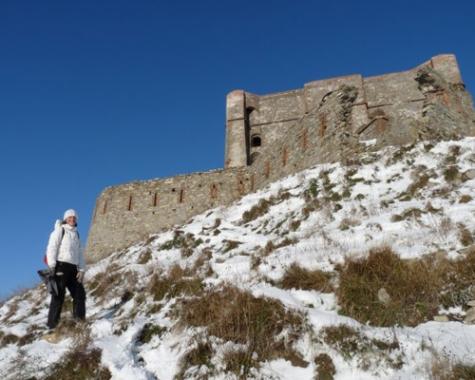 Il Diamante sopra Genova: un percorso in mezzo alla neve da Castelletto fino ai forti
