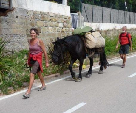 Non capita tutti i giorni ma è capitato. Una coppia di francesi, in giro da tre mesi, con un cavallo e un cane, che mi hanno fermato per chiedermi dove potevano passare la notte. Con un cavallo a Sanremo? Chissà che fine hanno fatto