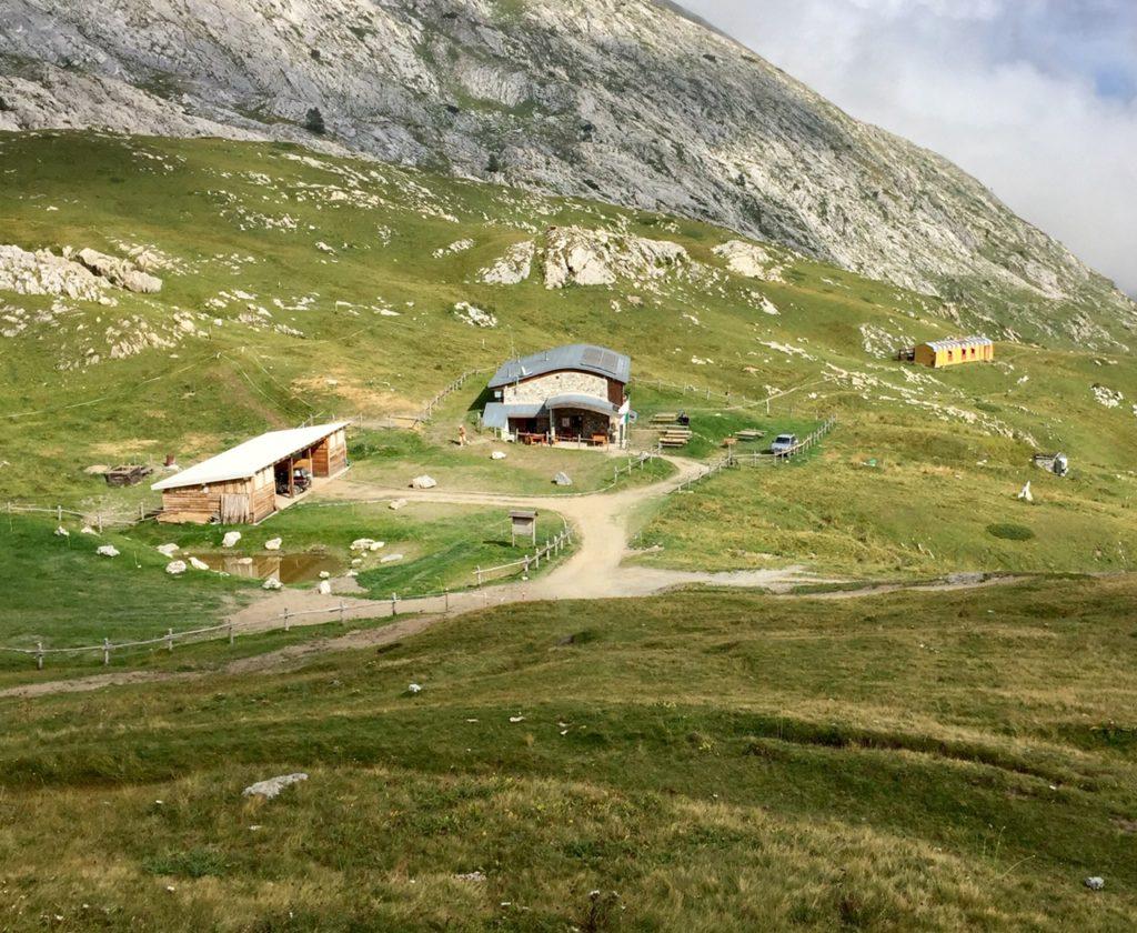 Il rifugio Don Barbera.