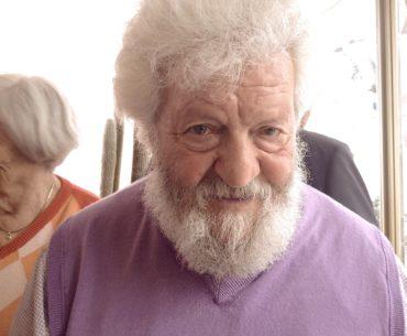 Libereso Guglielmi alla festa del suo 89° compleanno
