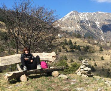 Alice, con il monte Saccarello